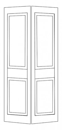 House of doors 3 3 panel shaker bifold - Shaker bifold closet doors ...