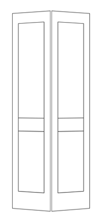 House of doors 2 panel shaker bifold - Shaker bifold closet doors ...