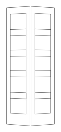 House of doors 5 panel shaker bifold - Shaker bifold closet doors ...